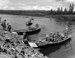 Yukon Command riverboats, Fort Wainwright, Alaska, 1962.