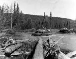 M41 Walker Bulldog tanks, fording Eagle River, Sept. 4, 1962.