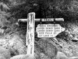 U.S.F.S. trail sign, Skagway, Alaska, 1941.