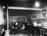 Geo. Carl's, Ruby, a typical Alaskan barroom, ca. 1913.
