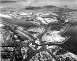 Aerial view of U.S. Naval Air Station, Adak, Alaska, Nov. 25, 1944.