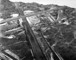 Aerial view of U.S. Naval Air Station, Adak, Alaska, Dec. 3, 1944.
