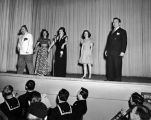 "USO show, ""Follies of 1945,"" Adak, April 8, 1945."