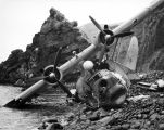 Wreckage of Consolidated PB4Y, Adak Island, June 7, 1945.