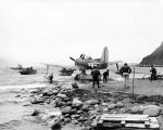 Curtiss SC Seahawk, Andrew Lagoon, Adak, Aug. 11, 1945.