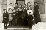 Ruby's first school, ca. 1912.