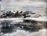 Str. CORWIN in the ice pack in front of Nome, June 22, 1910.