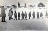 Boys' foot race, Marys Igloo, Alaska.