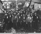 Members of the W. H. Seward Post, Juneau, of the Grand Army of the Republic (Union veterans of the...