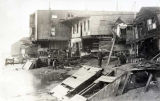 Nome buildings, damaged in October storm, 1913.