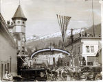 Ketchikan welcomes President Harding to town.