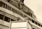 Mrs. Warren G. Harding, lowered from ship.