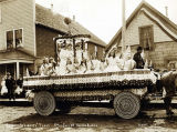 Goddess of Liberty float, July 4, 1907, Valdez, Alaska.
