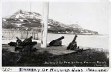Battery of Russian guns, Unalaska, Alaska, 1923.