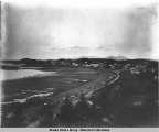 Mt. Edgecumbe and Crescent Beach,  Sitka, Alaska, ca. 1898.