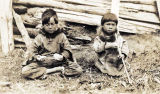Two young Inupiaq children.