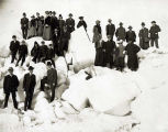 Excursion party on Bering Sea, Nome, April 14, 1907.