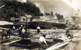 Construction of Governor's Mansion in Juneau, ca. 1912.