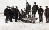 Auto Sled, invented by W. A. Boice.  Nome, Alaska, 1910(?)