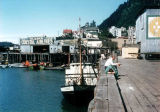 Juneau harbor dock, August 1954.