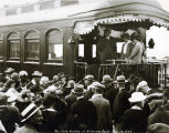 President Harding at Anchorage Depot, July 17, 1923.