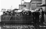 Umbrella Brigade, waiting for President Harding, Juneau, Alaska, 7-10-23.
