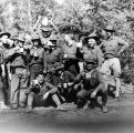 Men from Chilkoot Barracks, after training hike up Chilkat River.