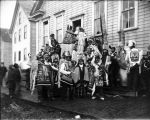 Potlatch participants in regalia, Sitka, 1904.