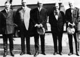 President Warren G. Harding with government officials.