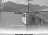 "Navy cruisers at Juneau -  U.S.R.C. ""Unalga,"" July 12th, 1930."