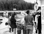 Salmon on the scale, Tee Harbor, Golden North Salmon Derby, 1968.