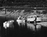 Launching a boat, Douglas ramp, 1969.