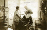 Dr. and Mrs. Daggett, in their office at Seward, Alaska, ca. 1906.