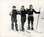 Three Nome women on skis.