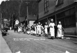 Women of Mooseheart Legion in July 4th parade, Juneau, 1924.