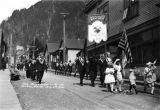 The Moose Lodge in parade,  Juneau, Alaska,  July 4th, 1924.