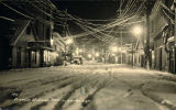 Franklin Street, Juneau, Alaska, on a winter night.
