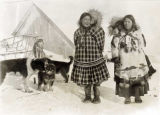 Married Eskimo women with babies on their backs.