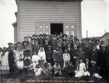 Eskimo wedding, St. Michael, Alaska, July 1st 1906, 10 PM.