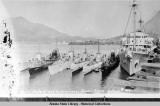 "S.S. ""Holland"" and submarines, Juneau, Alaska, July 30th, 1934."