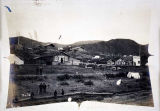 Village along Yukon River, ca. 1899.