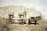 Fort Egbert water wagon, ca. 1900.