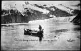 Gillnet fishing in front of Taku Glacier, Alaska.