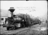 First railroad excursion in Alaska, 1898.