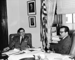 Governor Keith Miller in office of Senator Ted Stevens, Washington, D. C., May 1970.