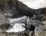 Gold Creek flume construction.