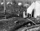 Dan Creek Mining Company camp, 1908.