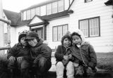 Four young school children, Northern Alaska.