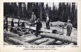Portable sawmill on the Alaska Highway, ca. 1943.
