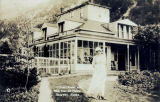 Pullen House and Mrs. Harriet Pullen, Skagway, Alaska.